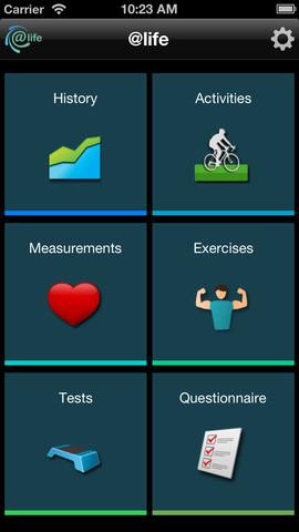 Aplikacija @Life vam bo pomagala pri športnih aktivnostih, vadbi, soočanju s stresom in fizičnih testih.