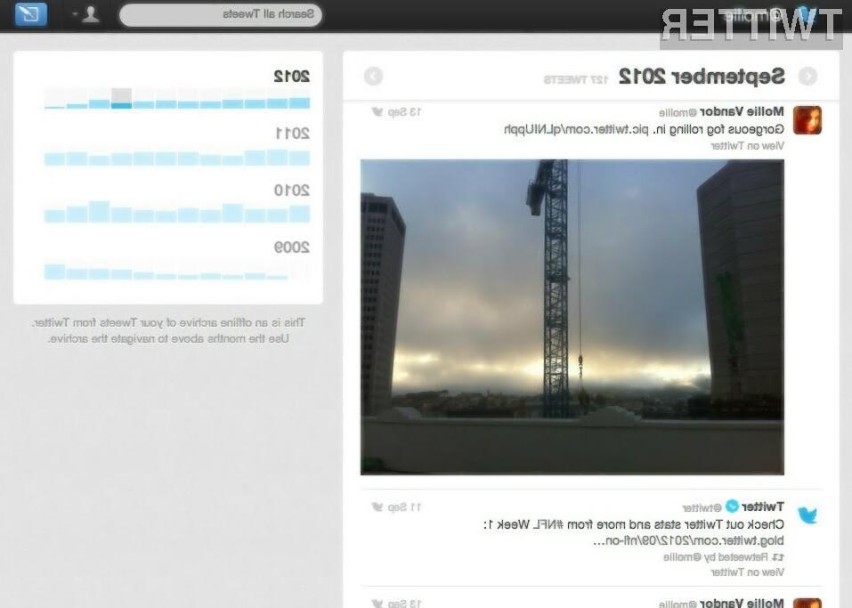 Twitter Archive bo omogočal veliko lažje iskanje po preteklih objavah.