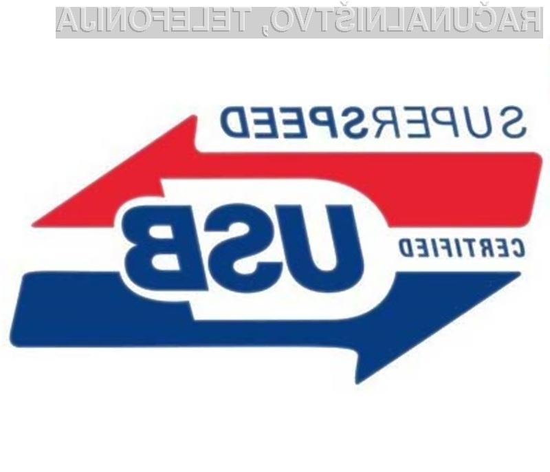 Novi podatkovni priključek USB SuperSpeed obljublja hitrejši prenos podatkov, večjo energetsko učinkovitost in združljivost z obstoječimi standardi.