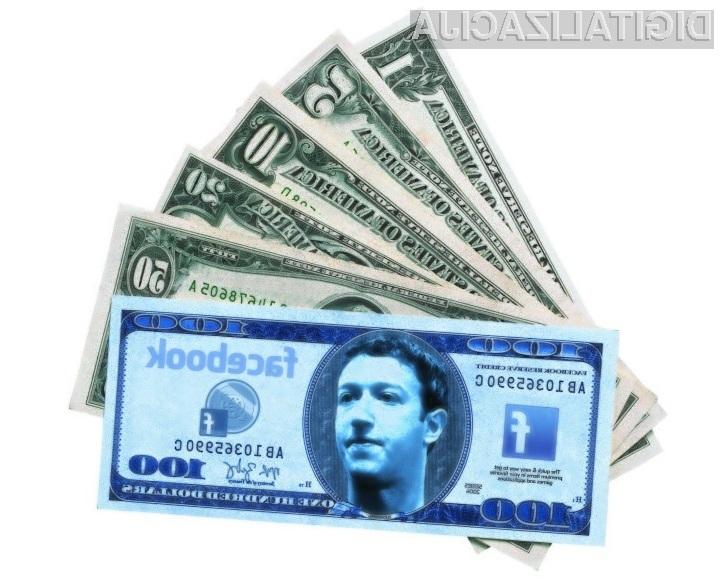 Za pošiljanje sporočil »neznancem« bo Facebook zahteval preračunanih 75 evrov na sporočilo.