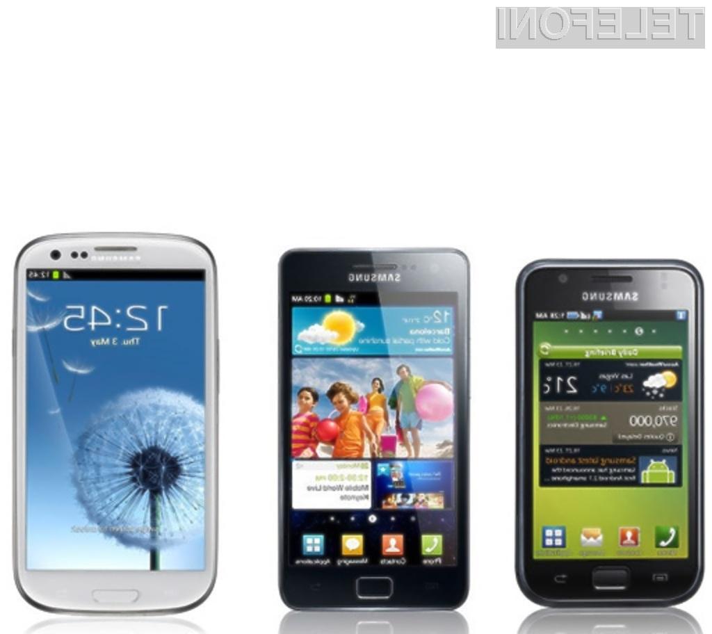 Prodajno najbolj uspešna družina pametnih mobilnih telefonov podjetja Samsung.
