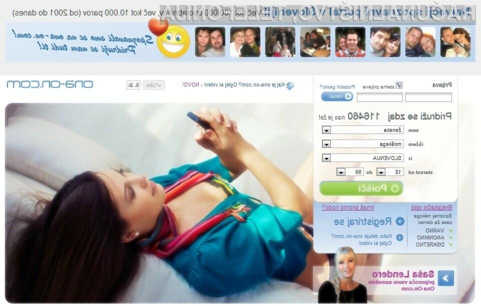 Na portalu ona-on.com se je samo v letu 2012 našlo več kot 900 parov