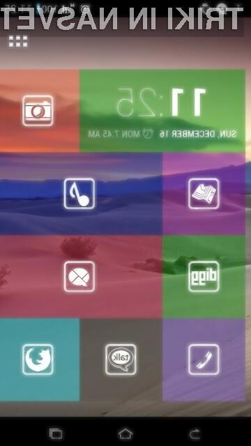 Nadvse všečni in uporabni grafični vmesnik Tile Launcher.