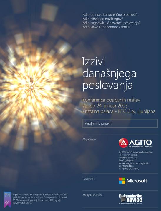 Agito konferenca poslovnih rešitev 22.1. - 24.1.2013