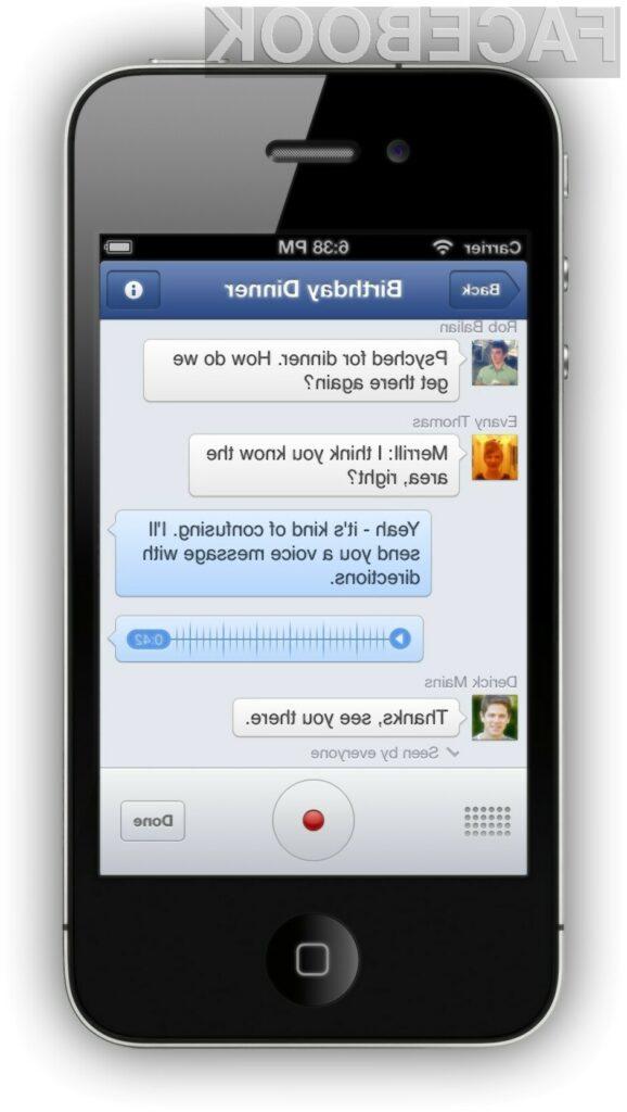 Facebookov Messenger bo odlsej omogočal tudi glasovne klice.