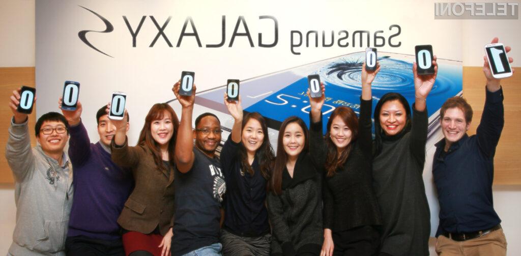 Modeli GALAXY S, GALAXY S II in GALAXY S III so do sedaj našli že več kot 100 milijonov kupcev po vsem svetu.