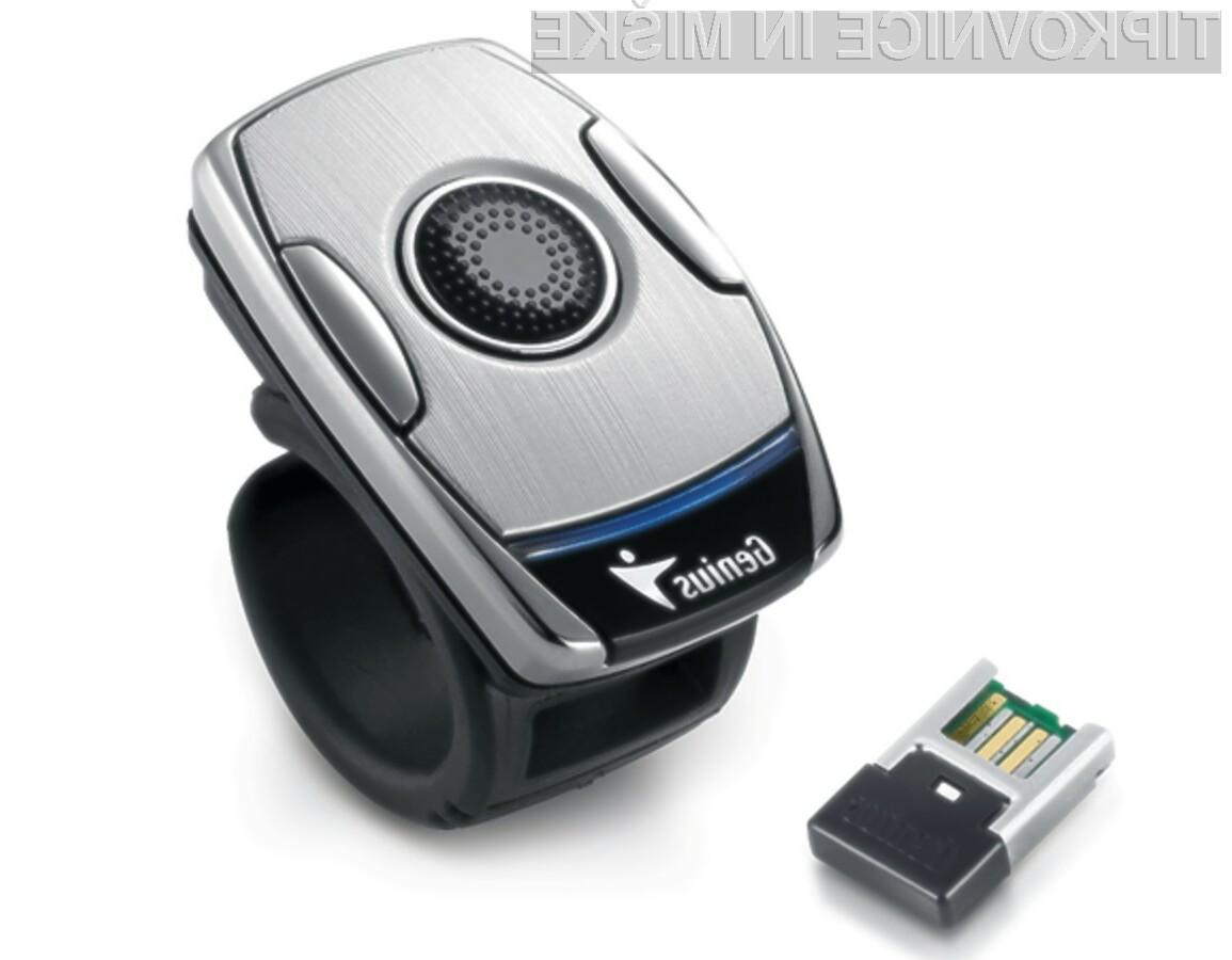 Inovativna računalniška miška Genius Ring Mouse 2 nam bo precej olajšala upravljanje z računalniki.