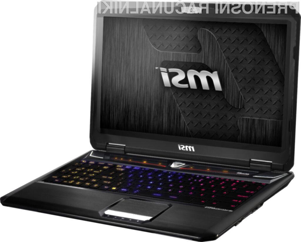 MSI-jev lepotec GT60 0NG-294US bo uporabnikom ponudil precej zmogljiv procesor in kar 12 GB delavnega pomnilnika.