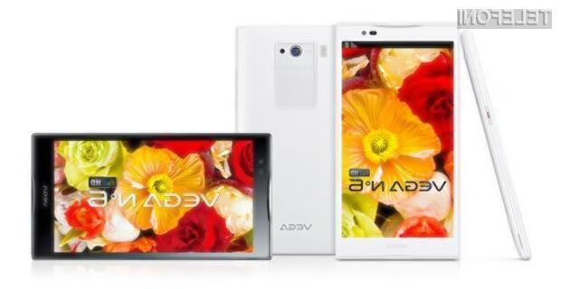 Pantech Vega No.6 je pametni telefon s precej velikim 5,9-palčnim zaslonom polne HD ločljivosti.