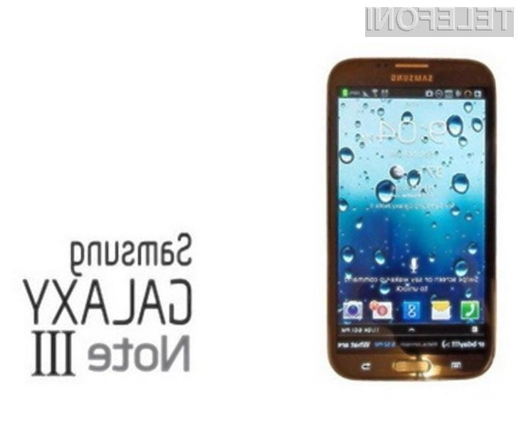 Mobilnik Galaxy Note 3 naj bi bil izjemno zmogljiv in nadvse všečen!