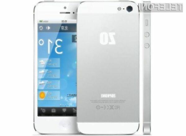 ZoPhone se po zunanjosti bistveno ne razlikuje od originala.