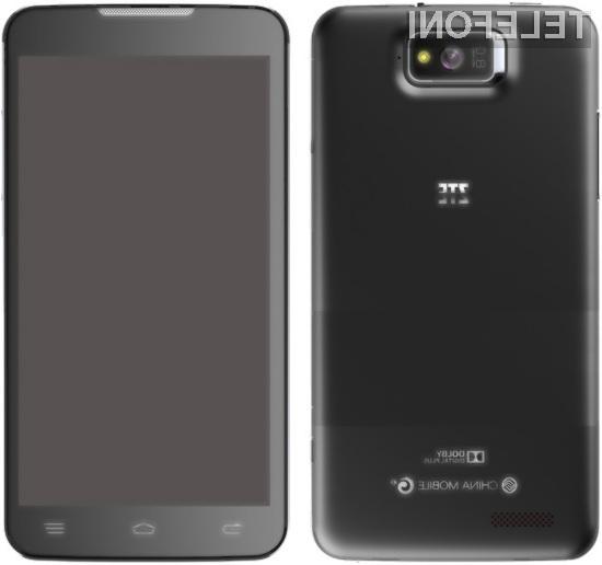 Pametni mobilnik ZTE P945 bo zaradi gigantskega zaslona kot nalašč za deskanje po spletu in prebiranje e-vsebin.