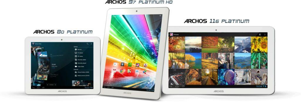 Archos je predstavil tri nove tablice iz družine Platinum.