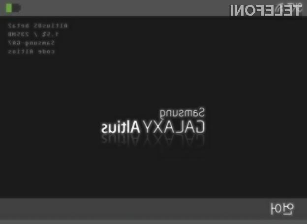 Tudi pri Samsungu naj bi pripravljali pametno uro, ki bo slišala na ime Altius.