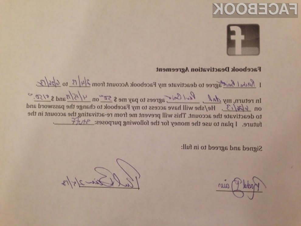 Najstnica bo na račun neuporabe Facebooka zaslužila nekaj denarja!