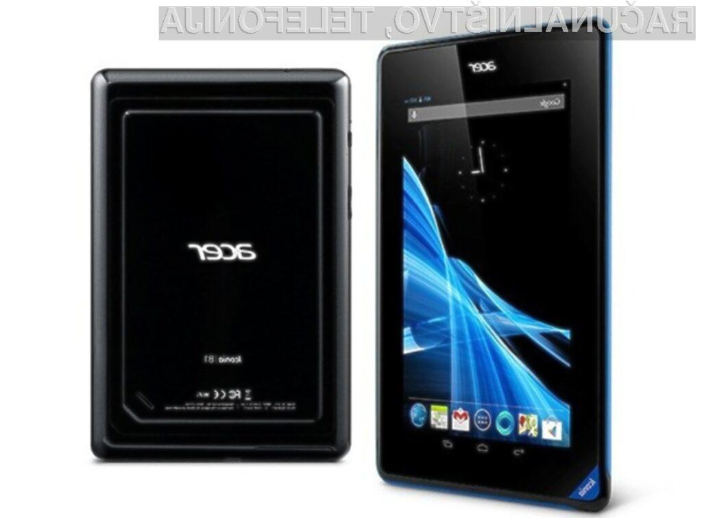 Cenovno ugodna tablica Acer Iconia B1-A71 je kot nalašč za opravljanje vsakdanjih opravil!