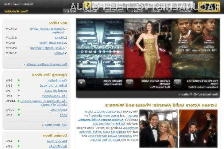 IMDB  je zagotovo ena izmed boljših spletnih strani za ljubitelje filma.