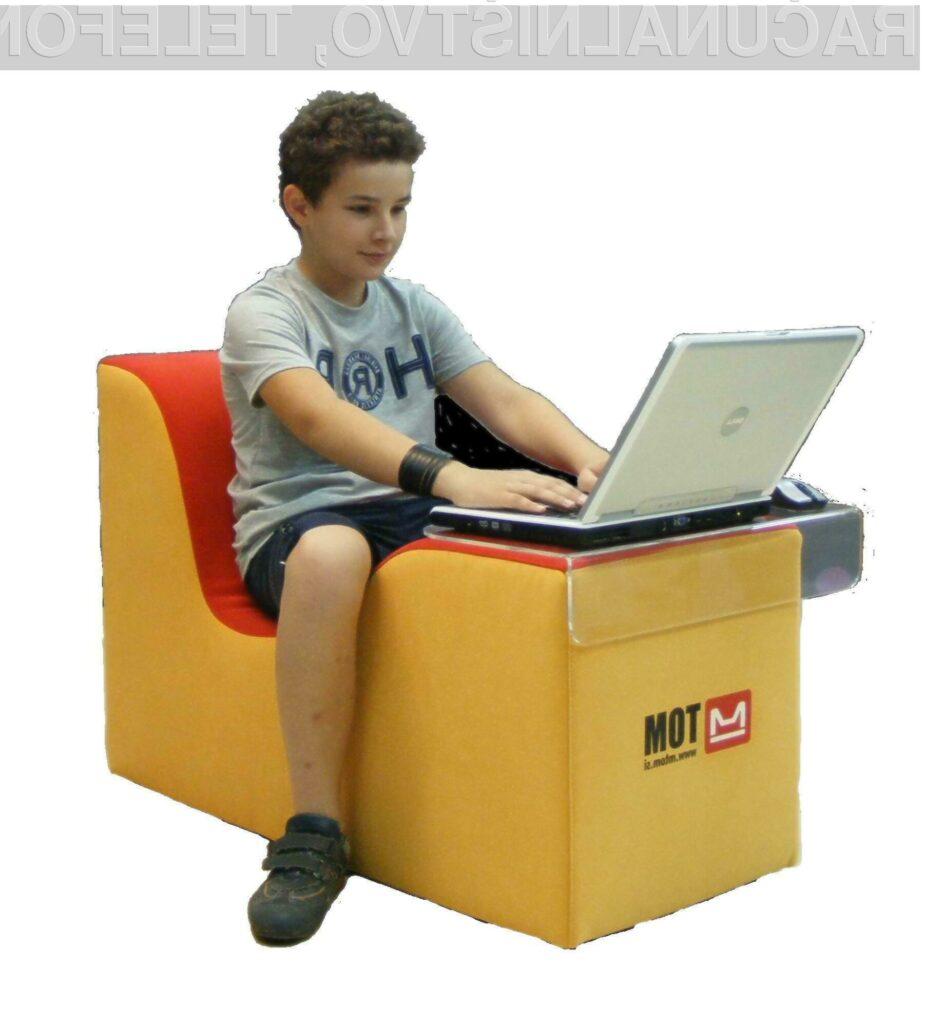 Tomy: inovativen ergonomski stol za delo s prenosnikom