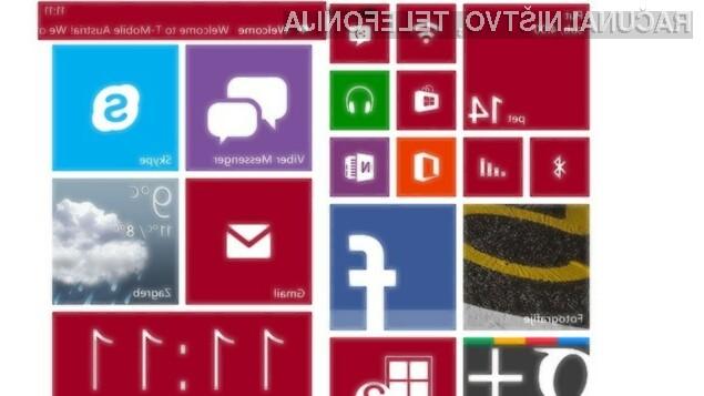 Mobilni operacijski sistem Windows Phone 8 lahko povsem prilagodimo našim zahtevam in potrebam!