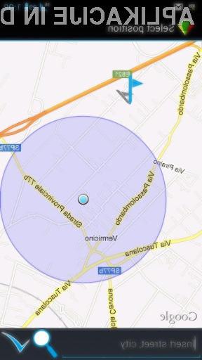 Mobilna aplikacije GeoTask za delovanje potrebuje navigacijski sistem GPS.