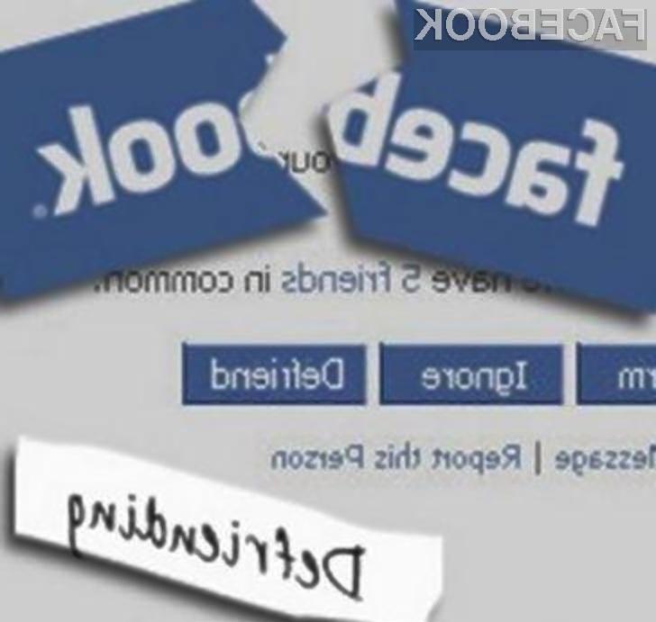 Previdno pri odstranjevanju oseb iz vašega Facebook profila!