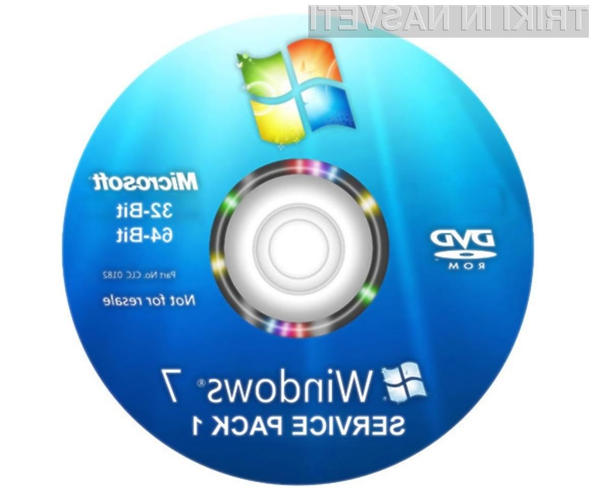 V kolikor nimate nameščenega servisnega paketa Service Pack 1 za Windows 7 imate le še dober mesec časa, da to storite!