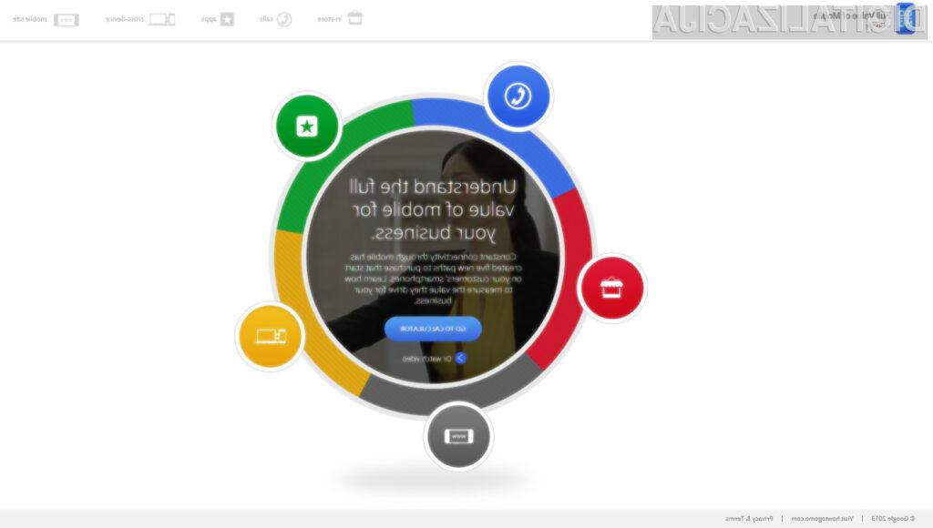 Google je predstavil novo spletno orodje, s pomočjo katerega bomo lahko izmerili dejansko vrednost posameznih mobilnih oglaševalskih akcij.