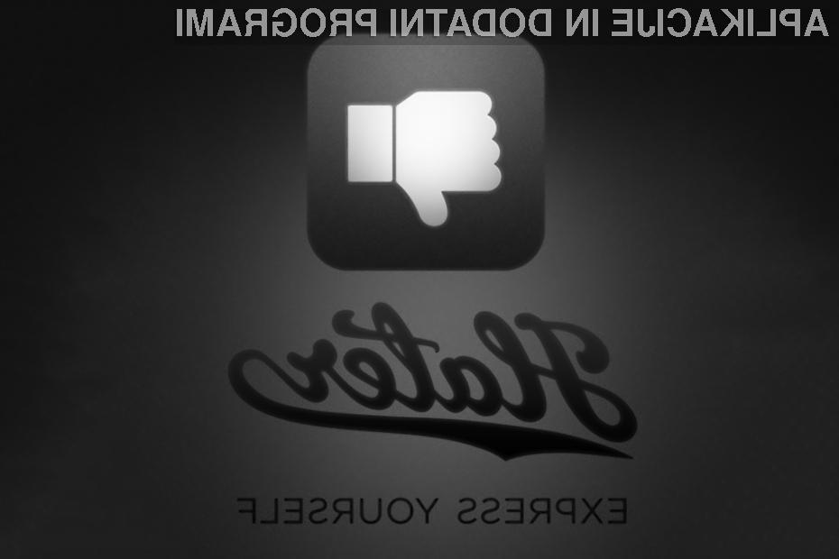S pomočjo aplikacije Hater lahko označite fotografije, ki vam gredo na živce.