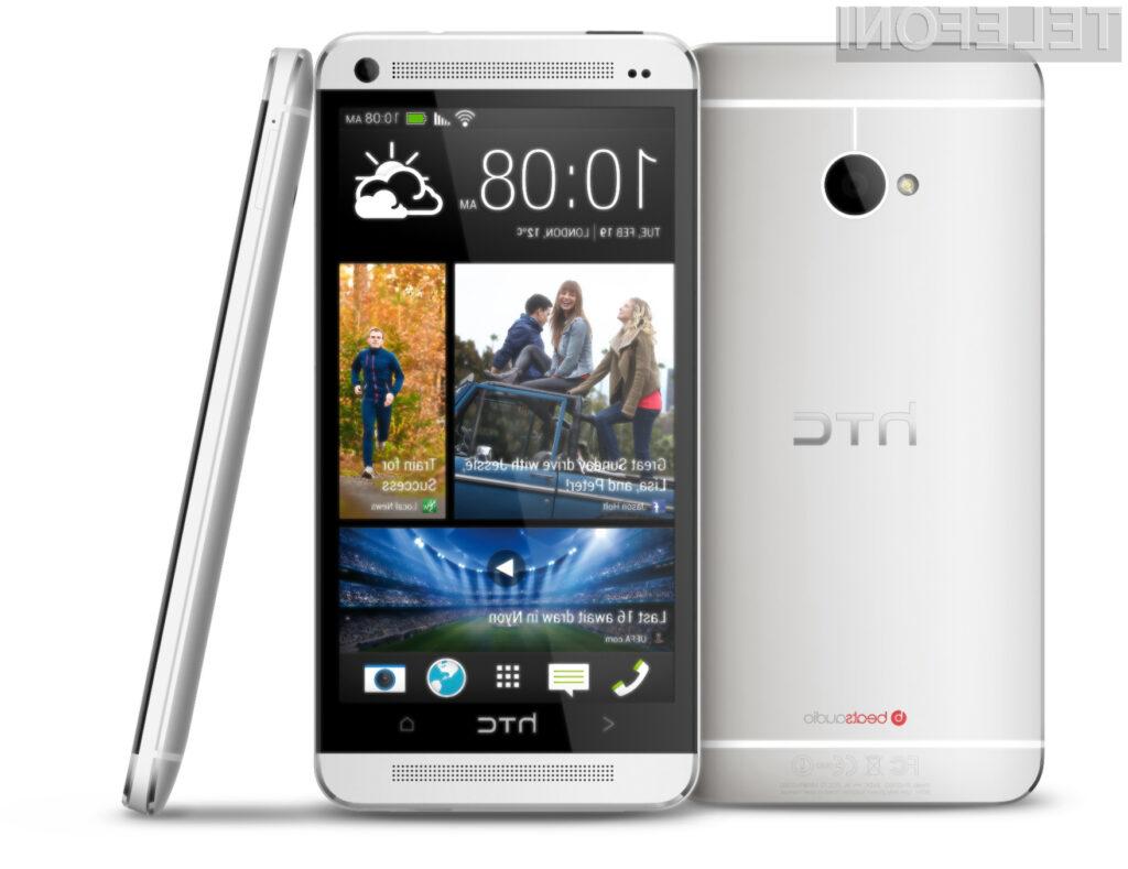 Podjetje HTC vse svoje upe polaga na pametni mobilni telefon One!