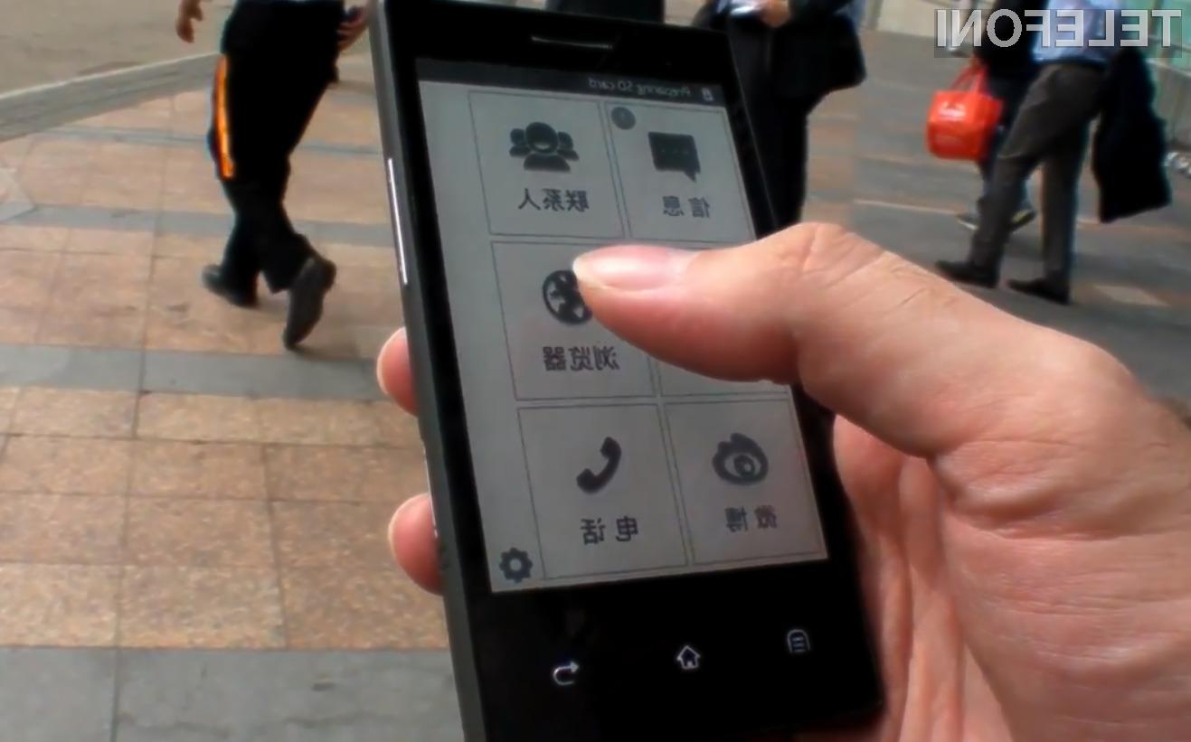 Prvi pametni telefon z e-ink zaslonom