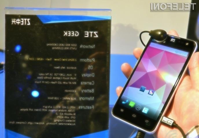 Pametni mobilnik Geek bo kot nalašč za tiste, ki na poti potrebujejo surovo procesorsko moč.