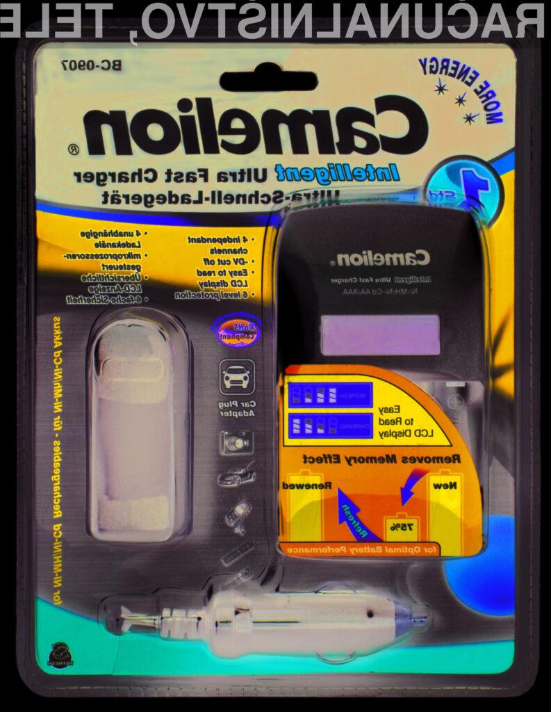Pametni polnilnik Camelion bo odpravil vse vaše težave z baterijami, na ta račun pa boste tudi prihranili kar nekaj denarja.