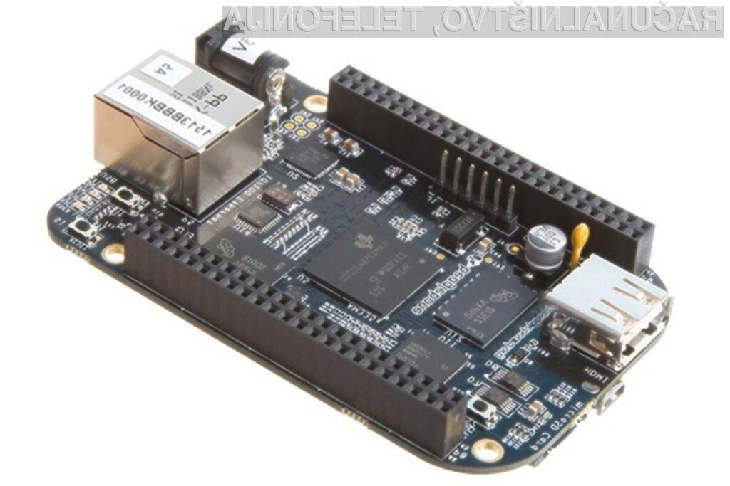 Na miniaturni računalnik BeagleBone Black lahko namestimo celo operacijska sistema Android in Ubuntu.