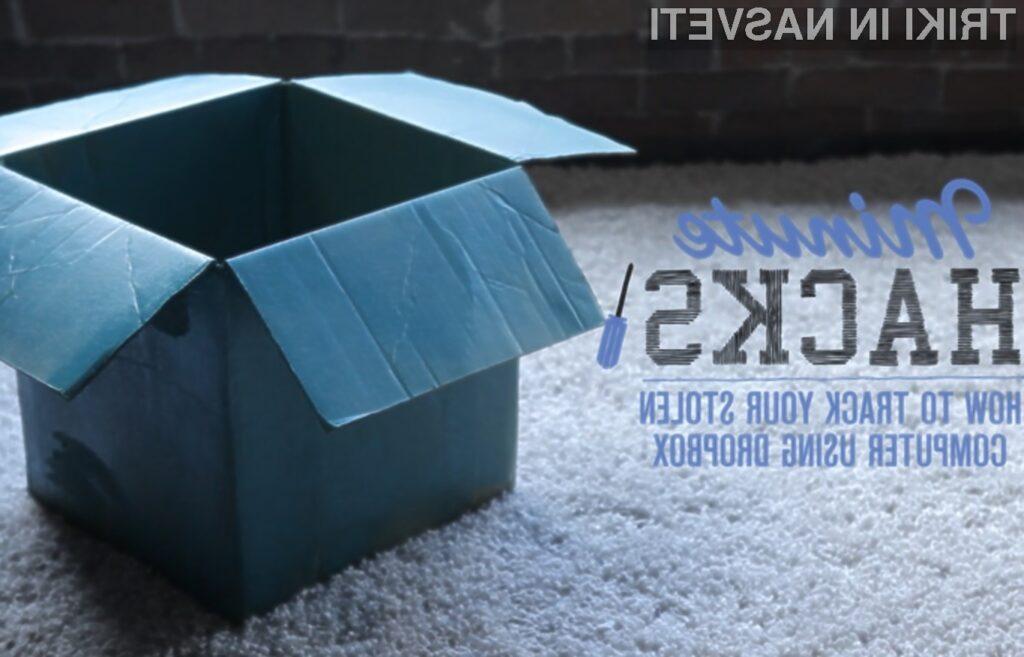 Oblačno storitev Dropbox lahko uporabimo celo za sledenje kradljivcem mobilnih naprav!