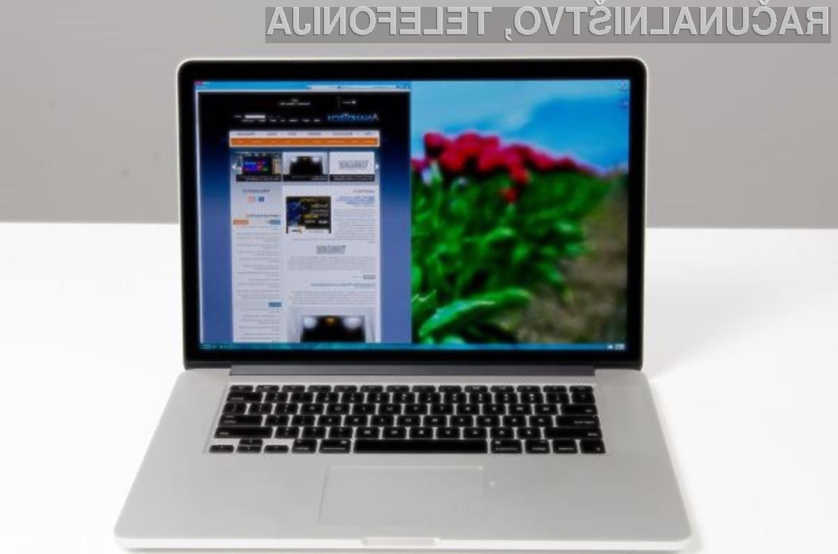 Za zanesljivo delovanje operacijskega sistema Windows bo potrebno kupiti Applov prenosnik MacBook Pro!