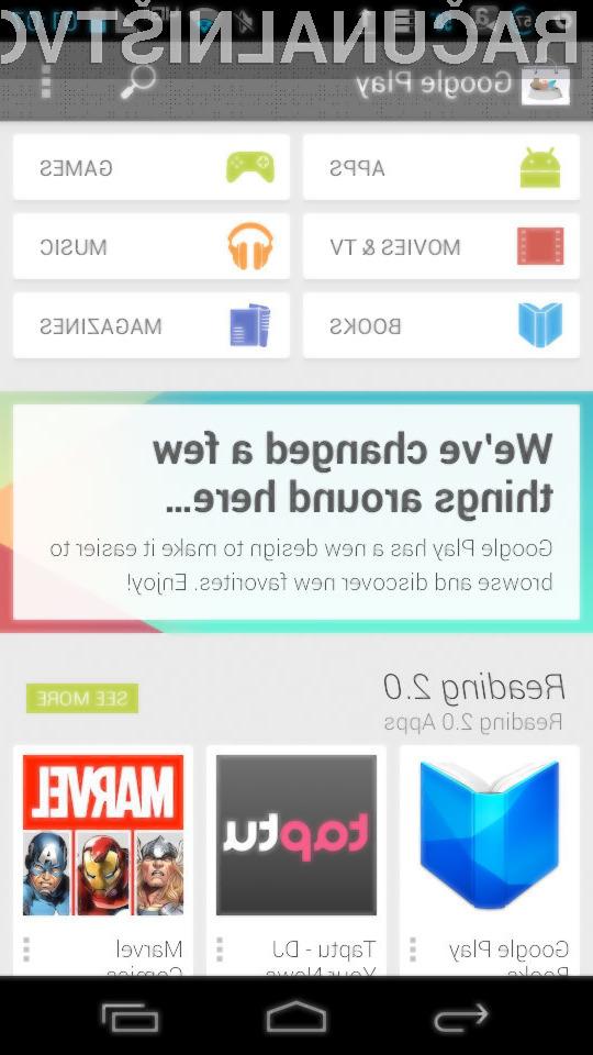 Prenovljeni spletni portal Google Play 4.0 bo namenjen lažjemu in hitrejšemu iskanju programov za mobilne naprave Android!