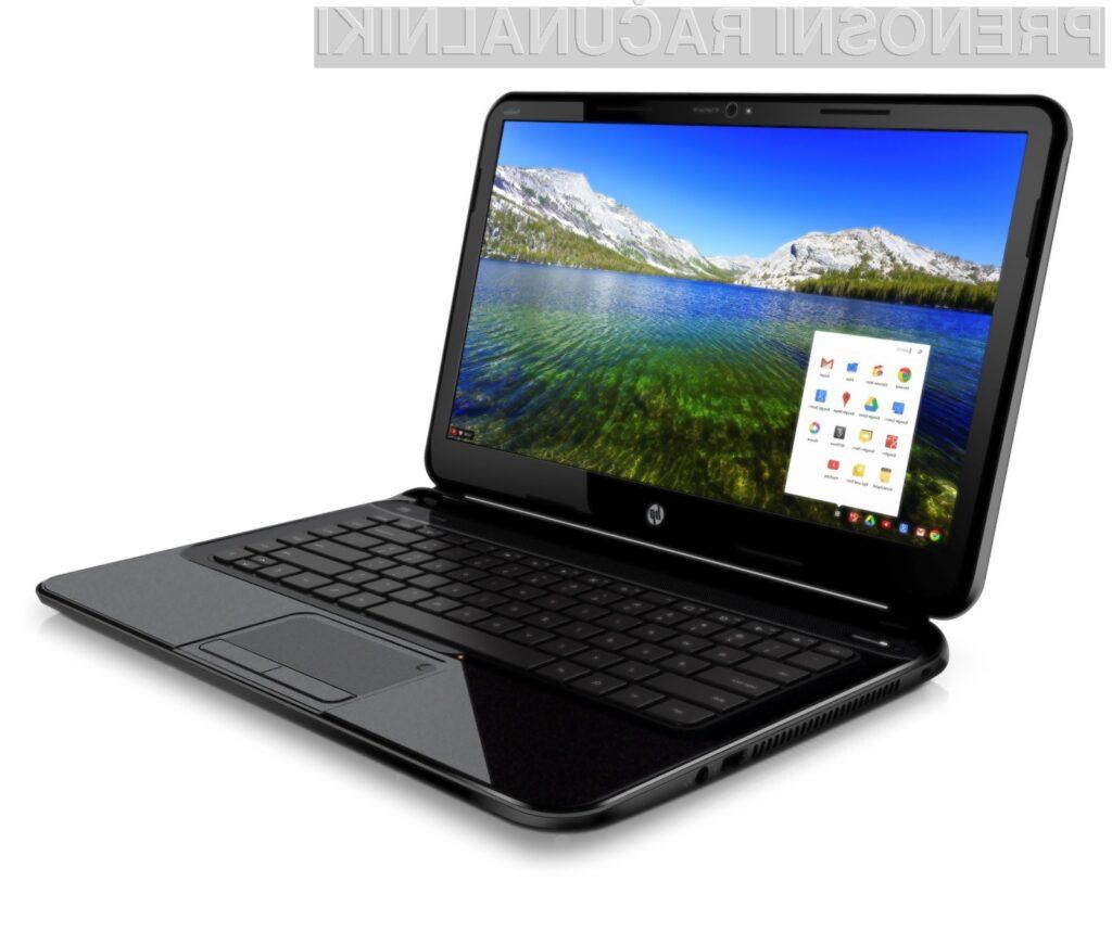 Britanski trgovci pričakujejo, da bo šel prenosnik HP Pavillion 14 Chromebook dobro v prodajo.