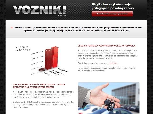 Digitalna platforma iPROM Vozniki
