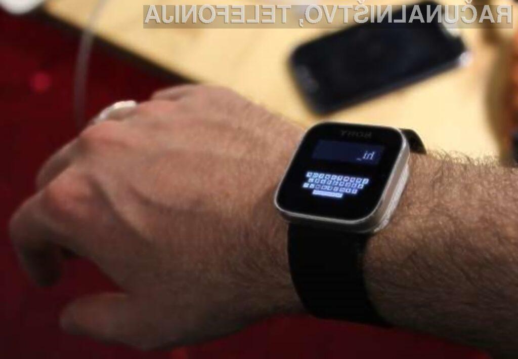 Z uporabo navidezne tipkovnice Zoomboard bomo lahko napisali sporočilo tudi na miniaturnem zaslonu pametne ročne ure.