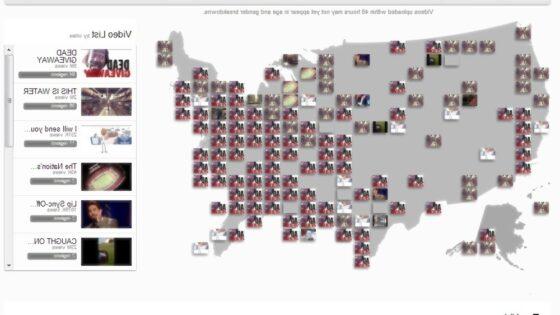 Spletna storitev YouTube Trends Map razkriva, kateri posnetki so pri uporabnikih portala YouTube trenutno najbolj priljubljeni.