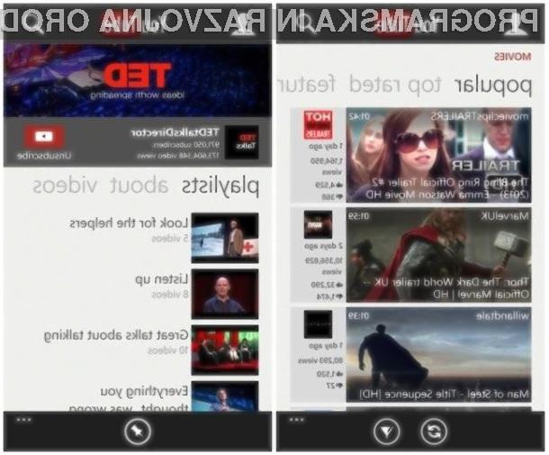 Usoda mobilne aplikacije Youtube za mobilnike Windows Phone visi na nitki!