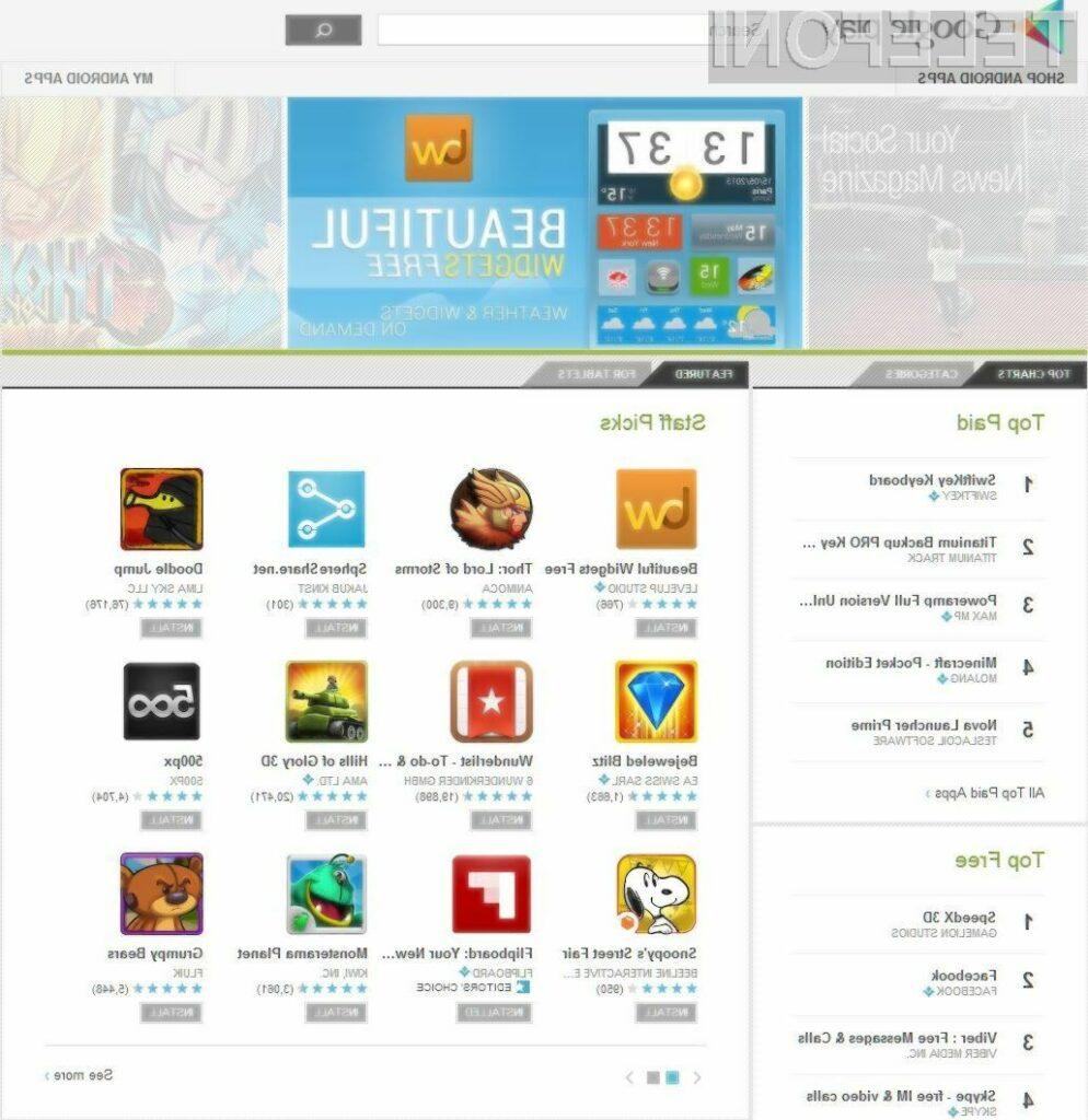 Google Play je bil ustanovljen oktobra 2008.