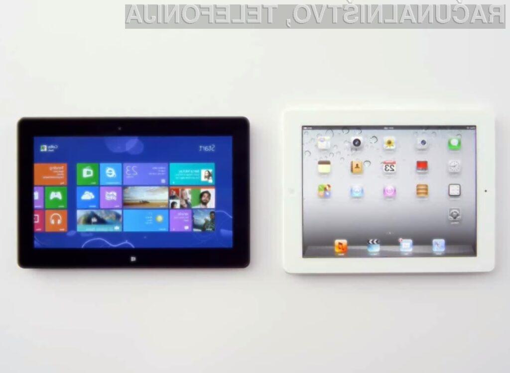 Microsoft nas z novim reklamnim oglasom poskuša prepričati, da je njegov Surface vsaj za razred boljši od Applove tablice iPad.