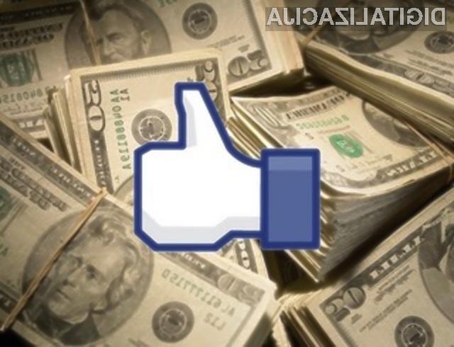 Kliki na gumb »Všeč mi je« pozitivno vplivajo na prihodek podjetji s stranjo na Facebooku.
