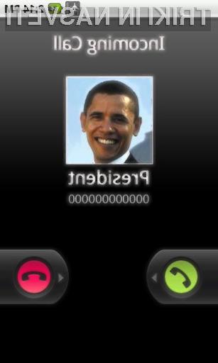 Če želimo, nas lahko »pokliče« tudi ameriški predsednik Obama.