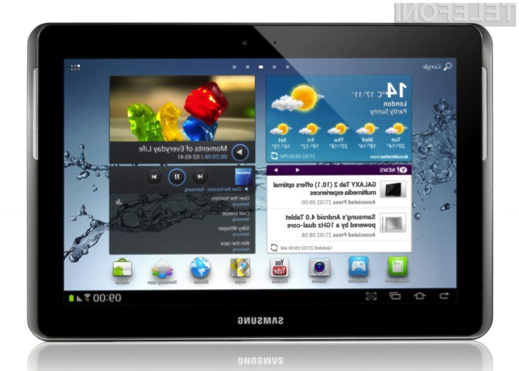 Samsung je ponudil že kar nekaj tablic (na sliki Galaxy Tab 2 10.1)