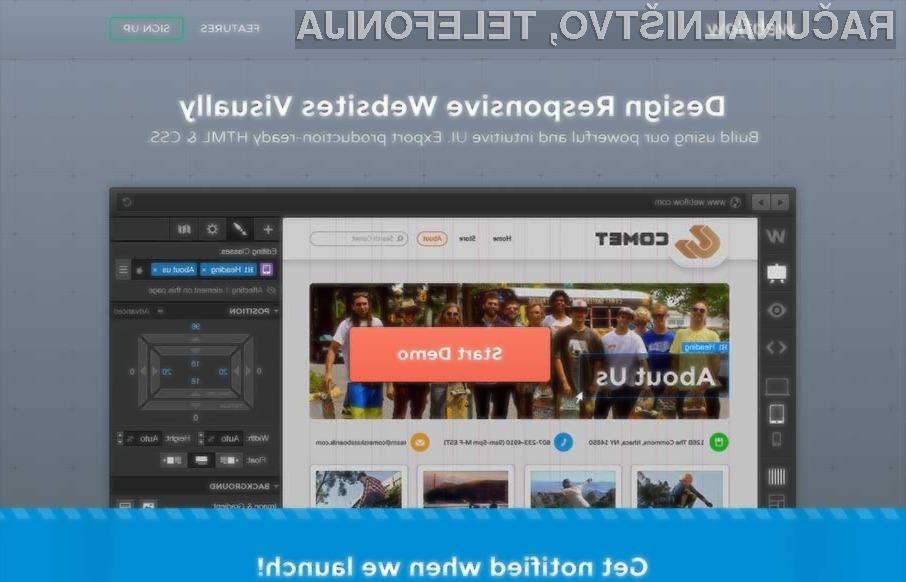 S pomočjo spletnega orodja Webflow bomo zlahka izdelali zanimivo spletno stran!