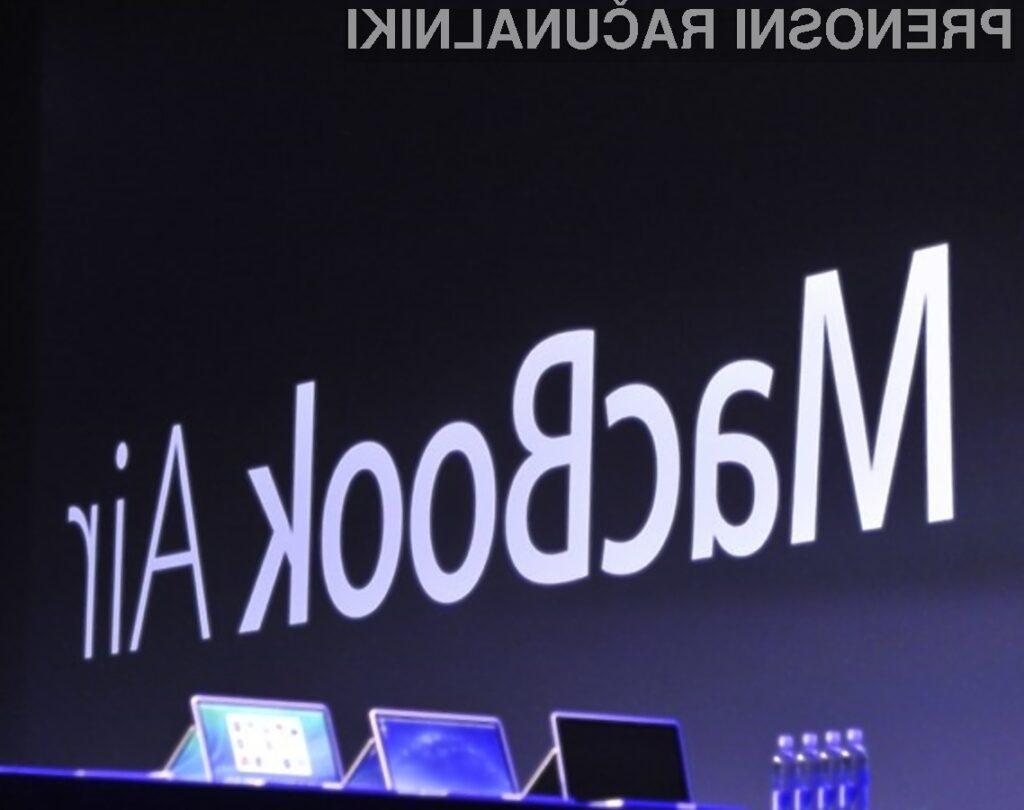 Novi prenosniki Apple MacBook Air navdušujejo z izjemno dolgo avtonomijo delovanja!