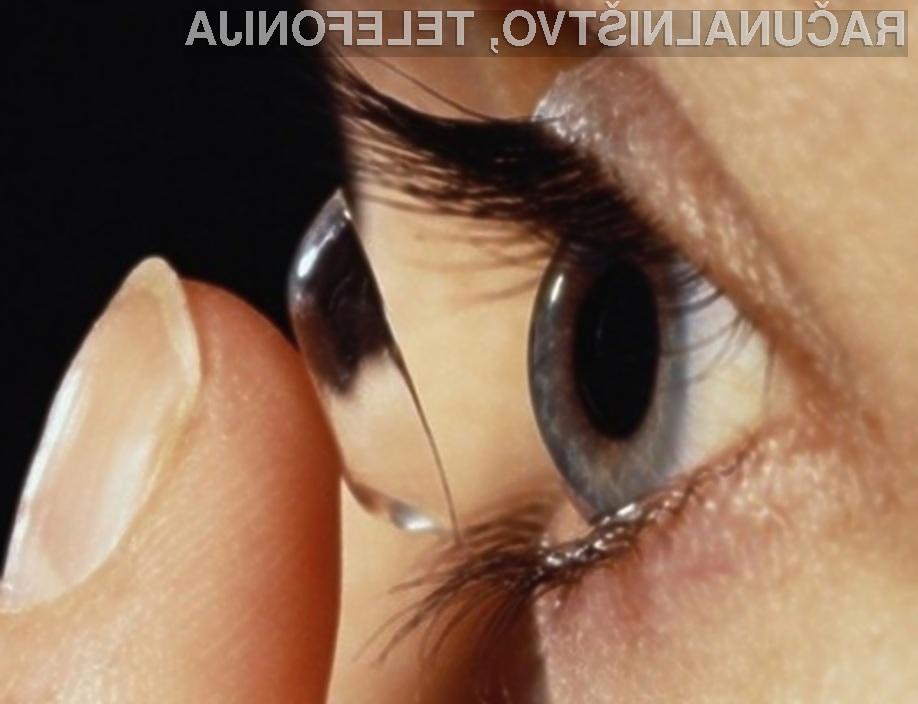 Zaslon v kontaktni leči prikazuje enako kakovostne slike kot večpredstavnostna očala Google Glass!