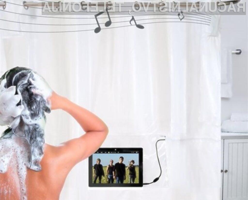 Zavesa ShowerTunes je pisana na kožo vsem, ki želijo pod prho poslušati glasbo ali predvajati video posnetke.